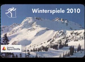 Sporthilfe: Winterspiele 2010 Portocard Biathlon Kati Wilhelm, selbstklebend, **