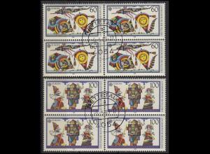 1417-1418 Europa / CEPT Viererblock-Satz zentrischer Vollstempel NETTETAL 5.5.89