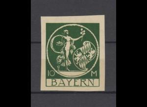 Bayern 194U Abschiedsausgabe 10 Mark - ungezähnt, ** postfrisch