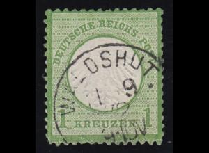 7 Brustschild, gestempelt WALDSHUT September 1872, geprüft Krug BPP