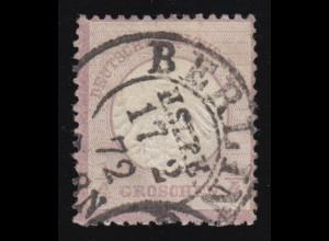 1 Brustschild 1/4 Groschen, gestempelt BERLIN 17.2.1872