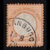 Italien 26 Freimarke 20 Cmi., EF Bf Punktstempel 172 BOLOGNA 29.1.69 nach Rom