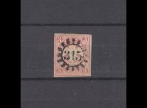 Bayern 15 Wappen mit PLF Kratzer rechts oben, geschl. Mühlrad-O 315 MILTENBERG