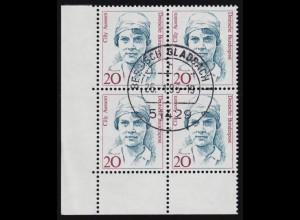 1460 DHB Hausfrauen-Bund: Viererblock, zentrischer Vollstempel NETTETAL 19.4.90