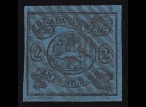 Braunschweig 7a Wappen 2 Sgr., gestempelt, Kurzbefund Lange BPP einwandfrei