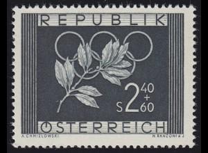 Österreich 969 Olympia-Zuschlagsmarke 1952, Marke **