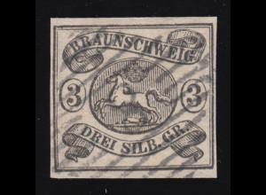 Braunschweig 8a Wappen 3 Sgr., Nummernstempel 8, signiert Richter / Stolow