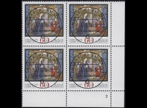 1032 Weihnachten 1979 ER-Vbl. mit FN 2 mit 4 zentrischen ET-O Frankfurt 14.11.79