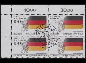 1463 Burschenschaft / Nationalfarben: ER-Vbl. oben links zentrischer Vollstempel