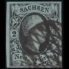 Sachsen 5 König August II. 2 Neu-Groschen, Vollgitterstempel