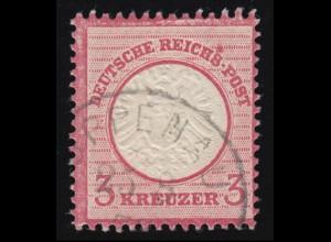 25 Brustschild 3 Kreuzer mit PLF: Fleck über S von REICHS-, gestempelt OPPENAU