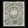 196I Freimarke 20 M mit Abart I: kopfstehender Unterdruck, Randstück **