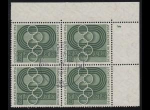 231 Olympisches Jahr: ER-Viererblock mit FN 1 auf 2, zentrisch gestempelt 9.6.56