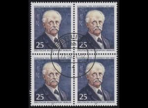 401 Hermann von Helmholtz - Viererblock mit Ersttagsstempel BERLIN 27.8.71