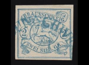Braunschweig 2 Wappen 2 Sgr., gestempelt, Kurzbefund Lange BPP einwandfrei