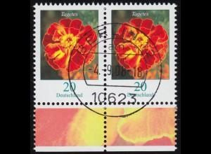 2471 Tagetes / Studentenblume 20 Cent - waagerechtes Paar, VS-O BERLIN 4.9.08
