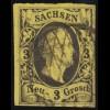 Sachsen 6 König August II. 3 Neu-Groschen, gestempelt