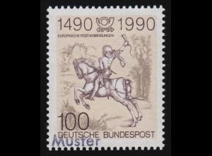 Bayern 15 Wappen mit PLF Rahmenbruch über E von BAYERN, Mühlrad-O 356 NÜRNBERG