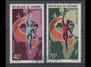 Dahomey: Europafrika / Europafrique - Hermes & Landkarte 1970, 2 Werte, Satz O