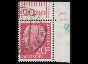 23-33 Dienstmarken 1920, Satz komplett, 11 Werte mit ausgesuchten Stempeln