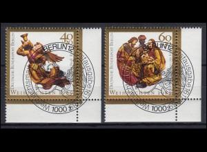 858-859 Weihnachten 1989: kompletter Satz mit FN 2 und passendem ESSt BERLIN