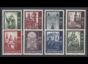 Österreich 885-892 Wiederaufbau des Salzburger Doms, Satz **