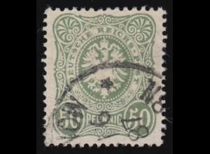 Bayern 2 I mit Halbkreisstempel und Federzugentwertung, breitran. (Schnittlinie)