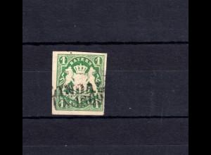 Bayern 14b I Wappen 1 Kreuzer mit PLF I durchbalkte 1 - Stempel 8b LINDAU 1869