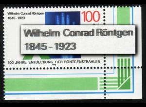1784DD Röntgen - Ecke unten rechts mit Doppeldruck der Farbe schwarz, **