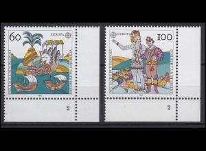 1608-1609 Europa / CEPT 1992 - Ecken unten rechts mit FN2, Satz **