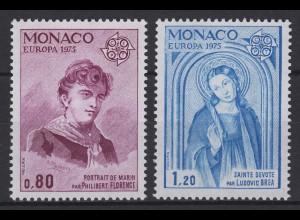 Monaco: EUROPA / CEPT Gemälde & Paintings Florence & Brea 1975, Satz **