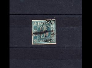 Bayern 2I Ziffer 3 Kreuzer - Halbkreisstempel und Federzugentwertung