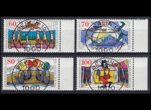 838-841 Jugend Berlin Zirkus: Rand-Satz rechts mit VS-O Berlin 12 - 20.4.1989