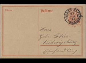 Postkarte Postreiter P140I: Oberstenfeld 21.11.21