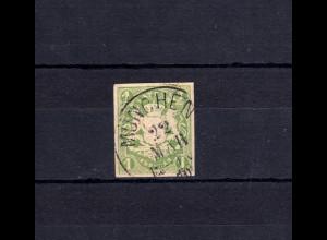 Bayern 14 Wappen 1 Kreuzer - Einkreisstempel MÜNCHEN 22.3.70