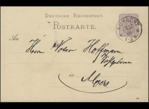 Postkarte P12/02B DV 986: Ruhrort 25.10.86