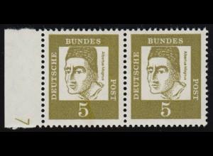 Bayern 14 im waagerechten Paar, zentrischer Stempel 20b Burkardroth 19.12.1870