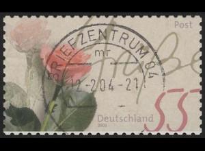 2321I Rosengruß aus MH 51: Verzähnung weißer Rand, O