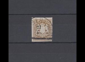 Bayern 20 Wappen 6 Kreuzer - Stempel 12b Halbkreisstempel FRABERTSHAM 21.10.