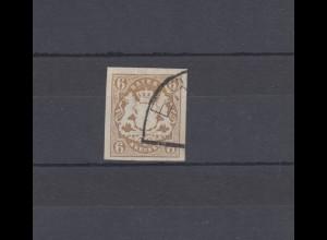 Bayern 20 Wappen 6 Kreuzer - Halbkreisstempel ER... , signiert