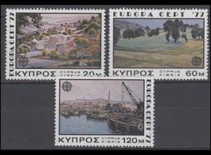 Zypern: EUROPA / CEPT Gemälde Landschaften Paintings Landscapes 1977, Satz **