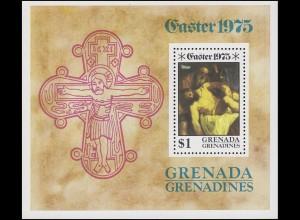 Grenadines: Ostern Easter - Die Kreuzigung Christi 1975, Block **