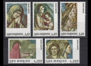 San Marino: Heiliges Jahr / Anno Santo 1975, 5 Werte, Satz **