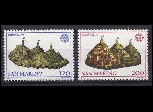 San Marino: EUROPA / CEPT Landschaften 1977, Satz **