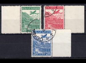 Bulgarien 249-251 Luftpost-Ausstellung Strassburg 1932, Satz O