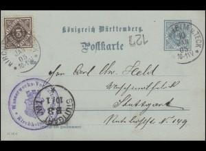 Württemberg DP 3/06 + Zusatzfr. Wasserwerks-Verwaltung KIRCHHEIM u. TECK 10.1.05