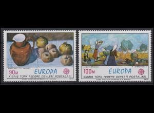 Zypern (türkisch): EUROPA / CEPT Gemälde Paintings 1975, 2 Werte, Satz **