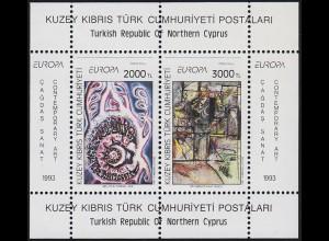 Zypern (türkisch): EUROPA / CEPT Gemälde Paintings Modern Art 1993, Block **