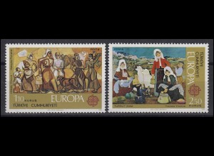 Türkei: EUROPA / CEPT Gemälde Paintings 1975, 2 Werte, Satz **