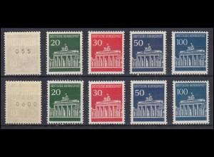 506-510v Brandenburger Tor - 2 Sätze, mit gerader und ungerader Zählnummer, **
